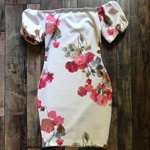 Dresses & Skirts - Floral Off-the-Shoulder Dress